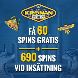 60 freespins utan insättningskrav på SverigeKronan