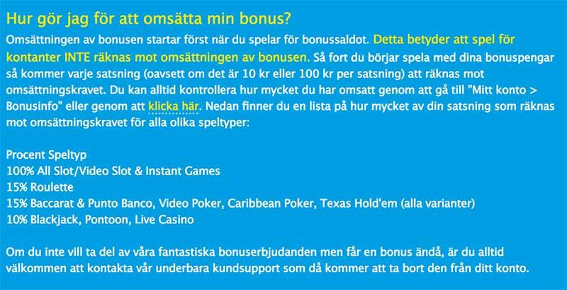 Olika Casinobonusar Hos Vera&John