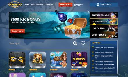 SverigeKronan 1500 kr casino bonus + 30 free spins