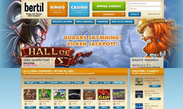 Bertil Casino 233 % bonus upp till 700 kr