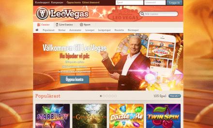 LeoVegas 200 % casinobonus upp till 50 000 kr
