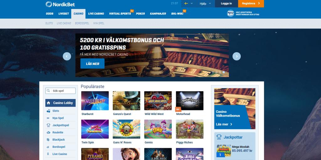 nordicbet casino bonus