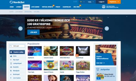 NordicBet erbjuder upp till 5200 kr i casino bonus