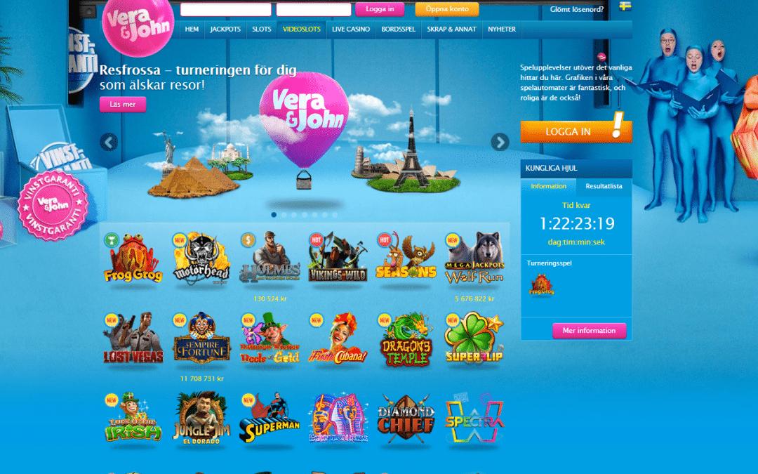 Vera&John 200% + 100% + 200% i casinobonusar + 100 Free spins