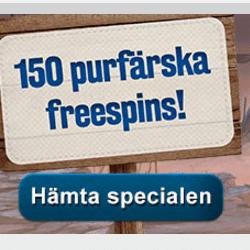 150 free spins hos SveaCasino