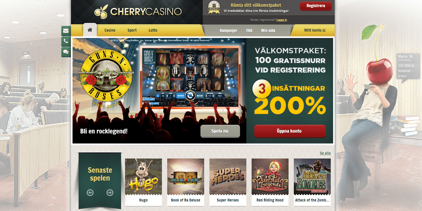 cherry casino 10 kr