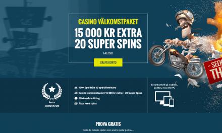 Thrills ger dig 200% casino bonus + 50 Free spins