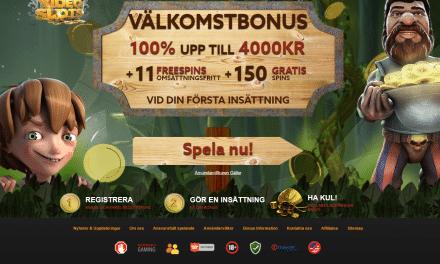 Videoslots.com 100 % casino bonus upp till 4000 kr + 161 Gratis spinn