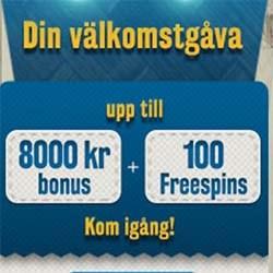 Sätt in 123 kr och få 100 free spins!
