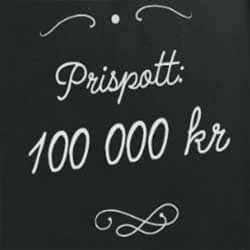 100 000 kr prispott i tredelat snurruppdrag