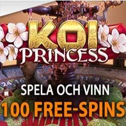 Få 100 Free Spins på Koi Princess Roulette