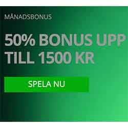 Ny månad, Ny 50% bonus – Varje månad!