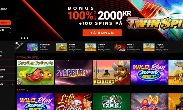 NextCasino 100 % bonus upp till 2000 kr