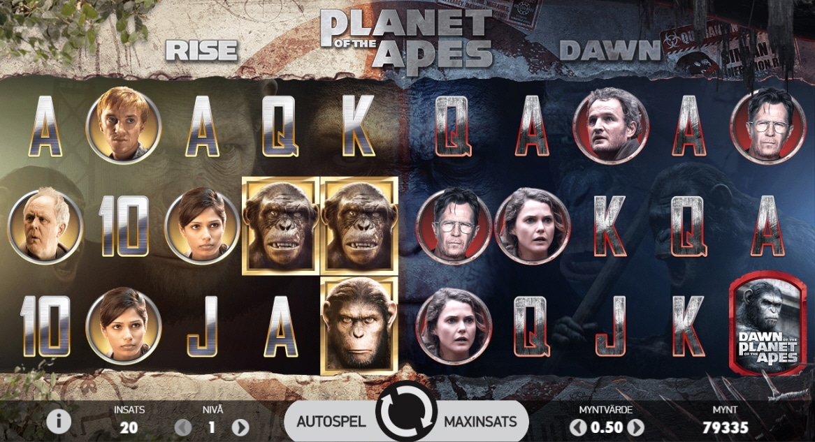 planet of the apes spelplan