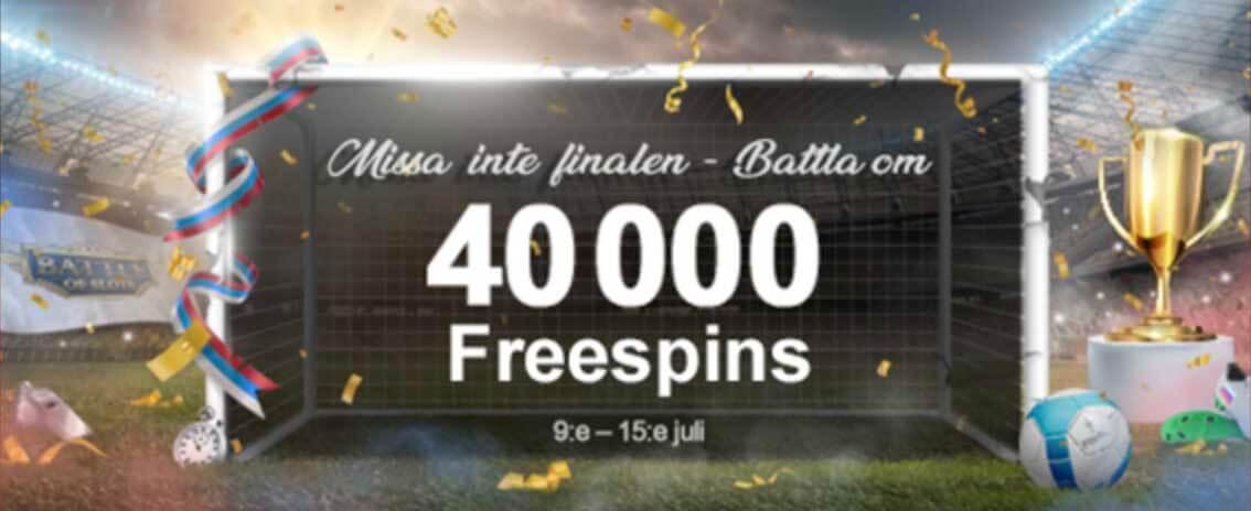 40 000 Freespins Freeroll Battles