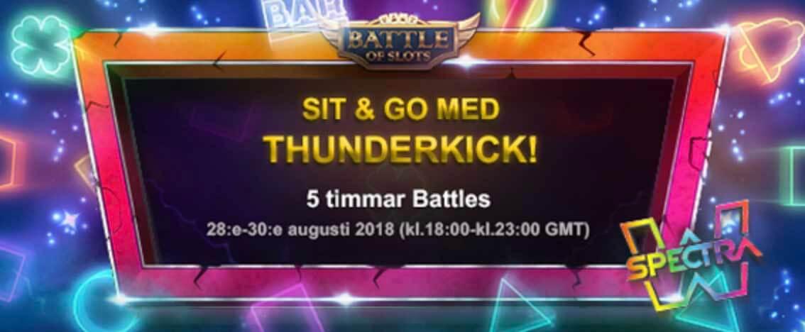 Sit & Go Battles i spelet Spectra från Thunderkick