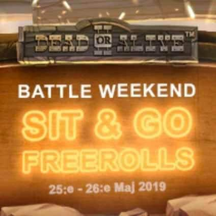 Videoslots Casino Battle Weekend 25-26 Maj 2019